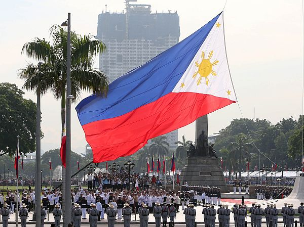 Philippine flag raised on Independence Day in war-torn city